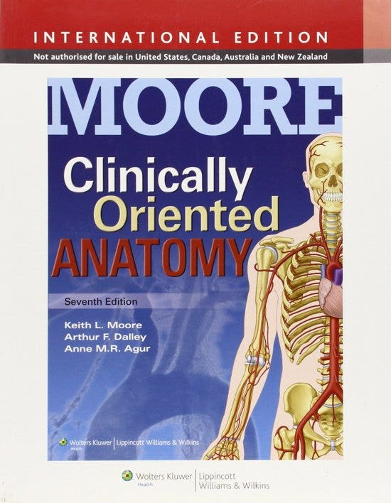 Clinically Oriented Anatomy, 7th revised edition